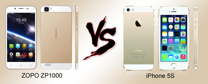 ZOPO ZP1000 vs iPhone 5S