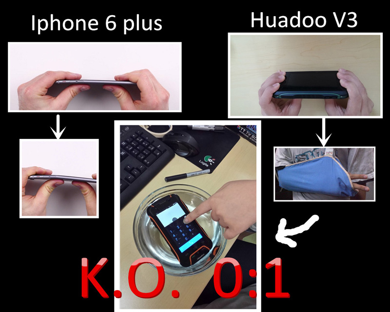 iPhone 6 vs Huadoo V3