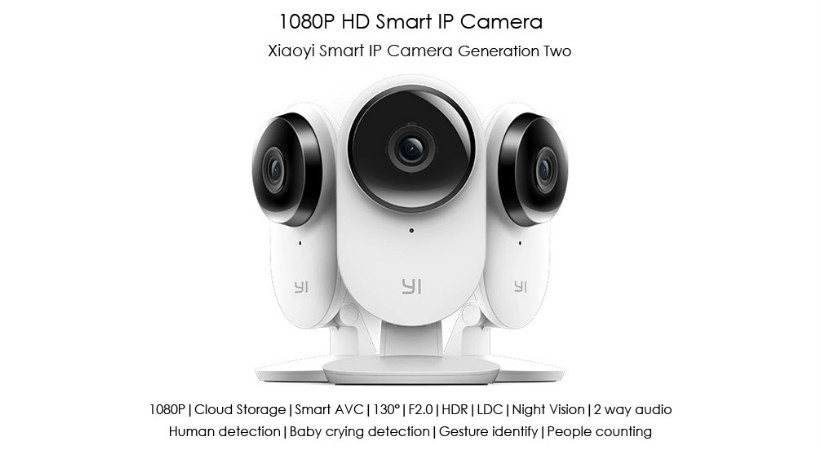 yi smart home camera 2 offers 24 hour cloud storage a. Black Bedroom Furniture Sets. Home Design Ideas