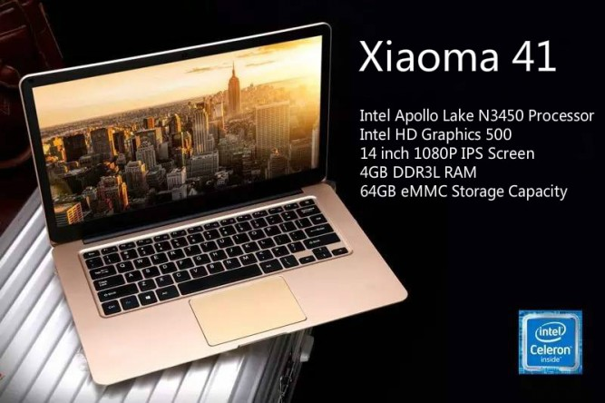 Recently The Well Known Chinese Tablet Manufacturer Onda Released A New Notebook Named Xiaoma 41 It Is Windows 10 With 14 Inch IPS Screen