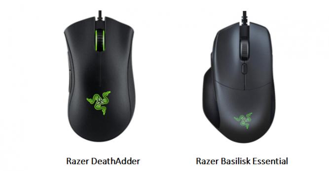 Razer DeathAdder & Razer Basilisk Essential Optical Wired